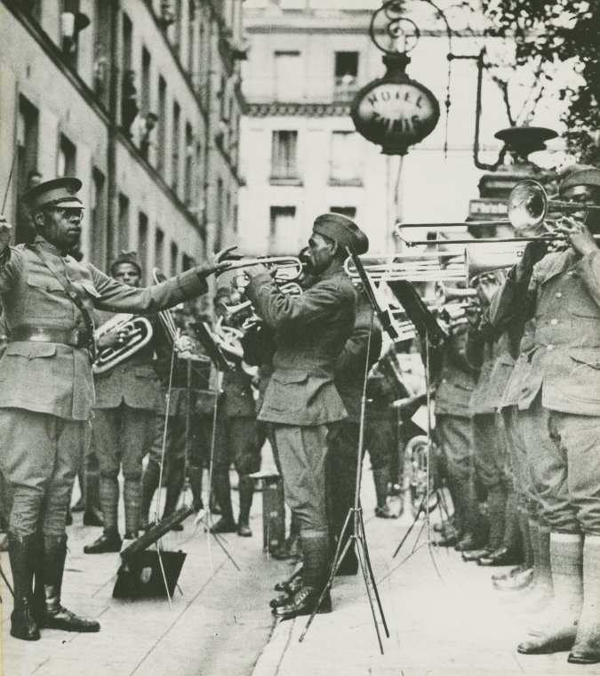369th Regimental Band lead by James Reese Europe