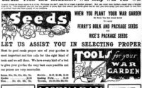 Ad for 1918 War Gardens