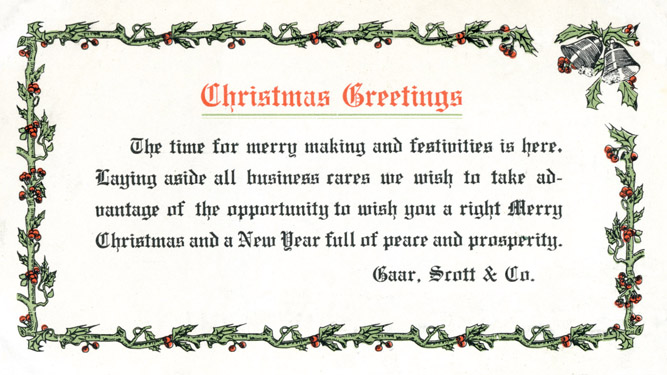 Gaar Scott Christmas